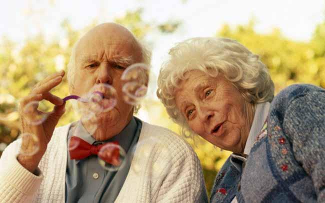 щасливі люди похилого віку