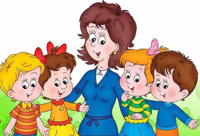 вихователька з дітками