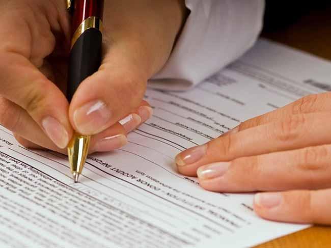 підпис ручкою на документах