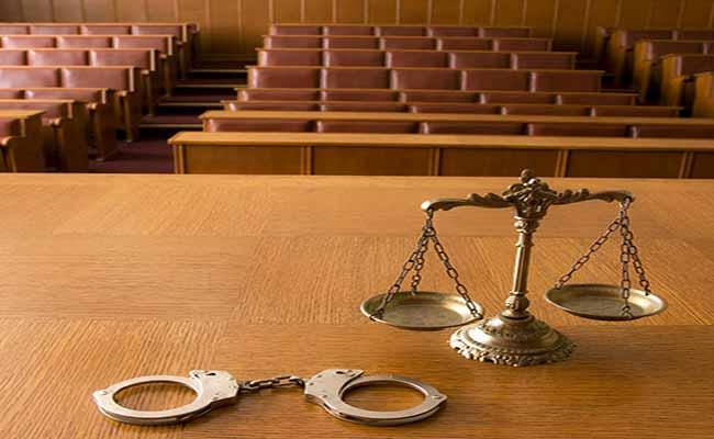 зала суду, наручникі и вагм