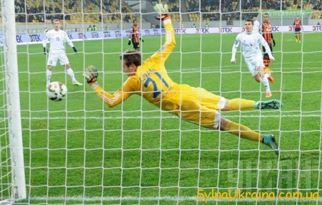 футболист на воротах