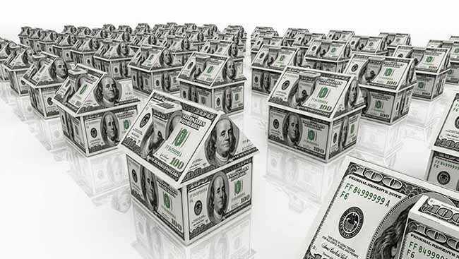 домики из долларовых купюр