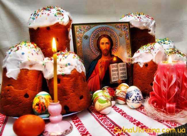ікона,свічка і паска