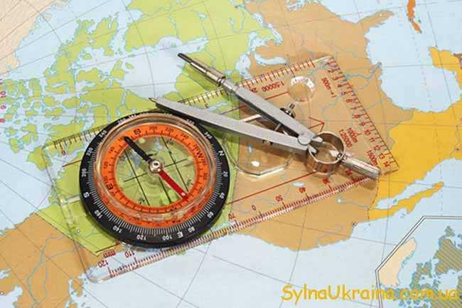 карта, компас,циркуль