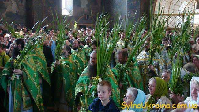 В церквах священнослужителі одягали одежу зеленого кольору