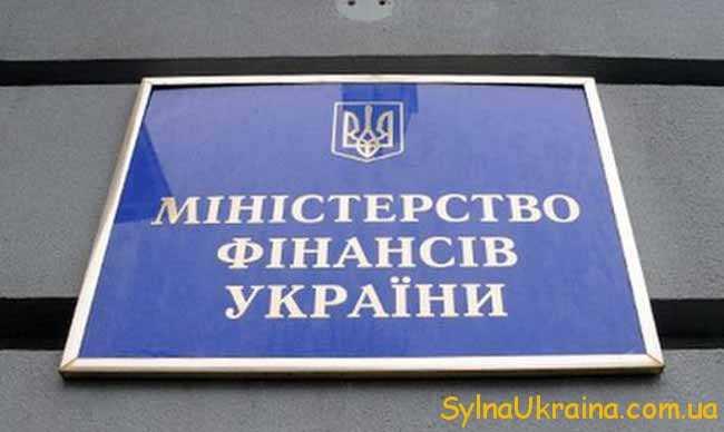 затверджується Міністерством фінансів