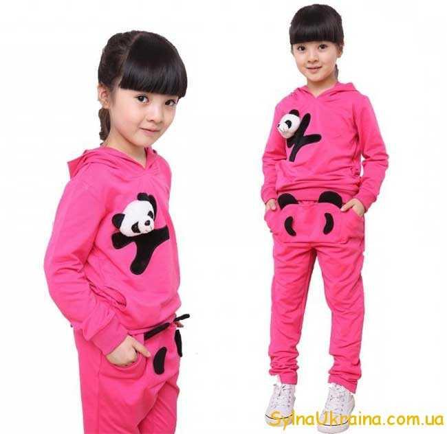 спортивный костюм для девочек розовый